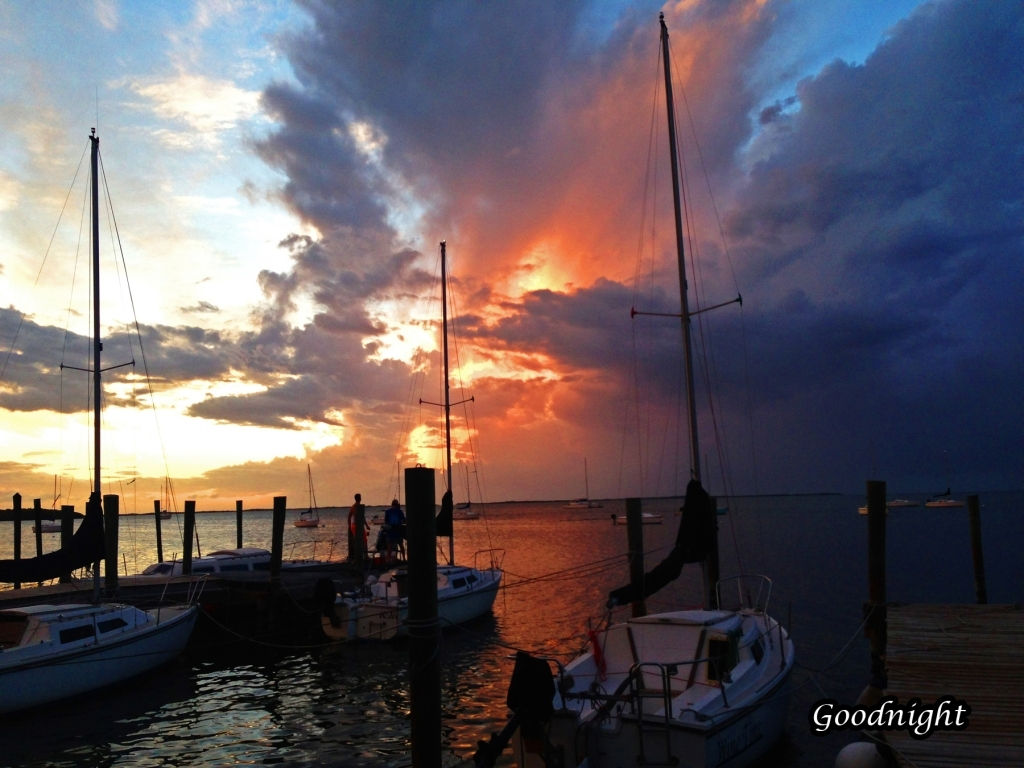 End of a Beautiful Day and Start of a Beautiful Night in Key Largo by Gerry Sheehan