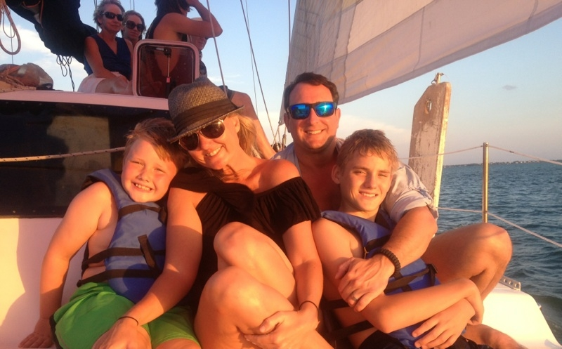 Family Enjoying a Sunset Cruise in the Bay Side of Key Largo - from Staci Allan