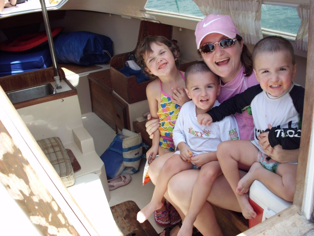 Family Inside a Sailboat from Emily Wines