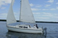 22 Ft Catalina Sailing on the Buttonwood Sound in Key Largo - from Mary Reed