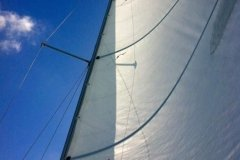 Blue Skies by the Sail by Paula Hooker