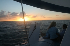 Couple Enjoying a Sunset Sail in the  Florida Keys - from Greg and Petra Smith